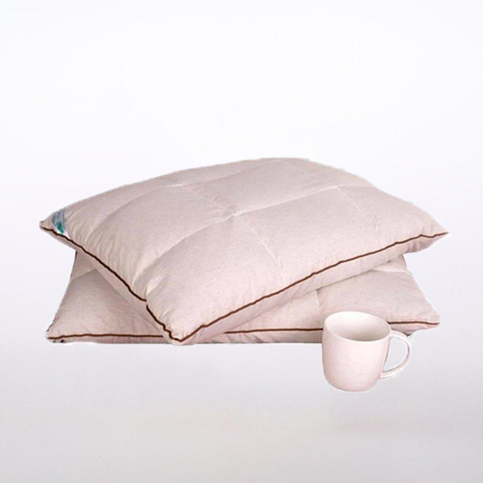 Подушка «Байкальская» с пленкой кедрового ореха и лузгой гречихи простеганная (двусторонняя)