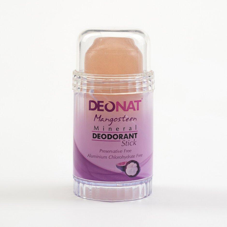 Дезодорант из аммонийного квасца-80г. с соком мангостина (розовый стик вывинчивающийся)