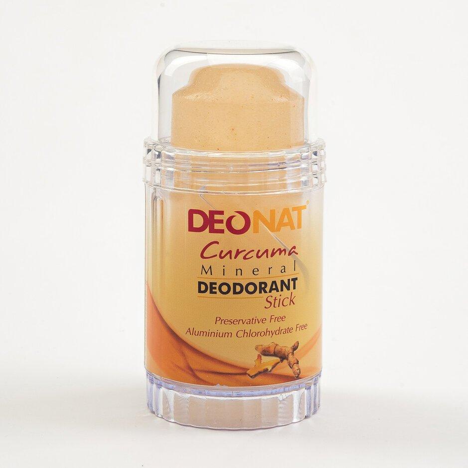 Дезодорант из аммонийного квасца-80г. с куркумой (жёлтый стик вывинчивающийся)