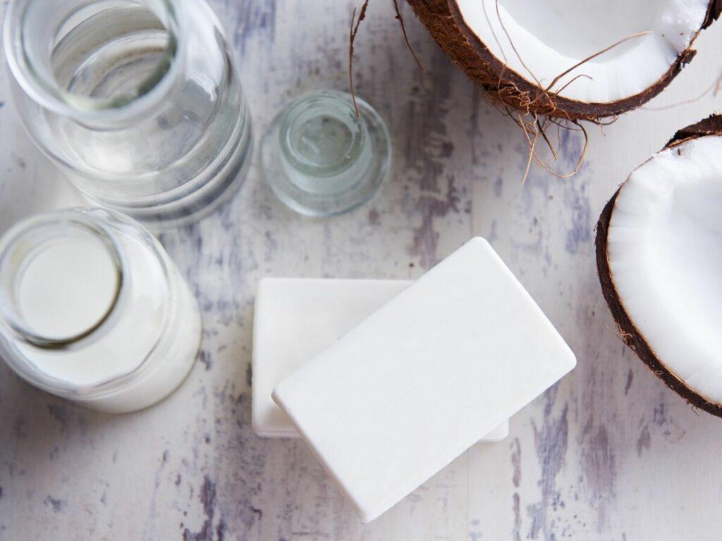 Мыло из кокосового масла и квасца